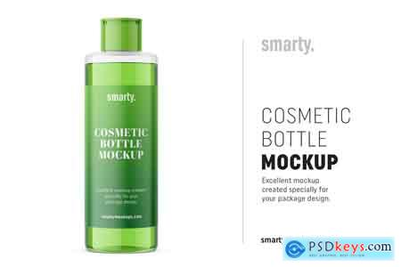 Creativemarket Transparent cosmetic bottle mockup