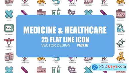 Videohive Medicine And Healthcare - Flat Animation Icons Free