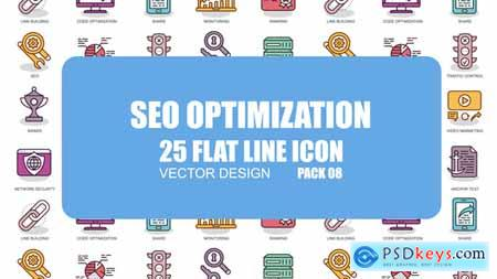Videohive SEO Optimization - Flat Animation Icons Free