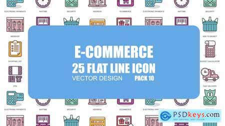 Videohive E-Commerce - Flat Animation Icons Free