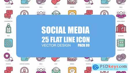 Videohive Social Media - Flat Animation Icons Free