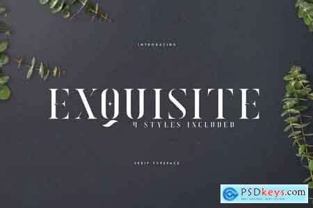 Creativemarket Exquisite - Serif Typeface 4 Styles