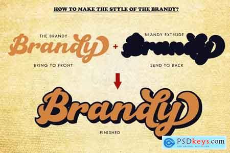 Creativemarket The Brandy Bold Retro Script