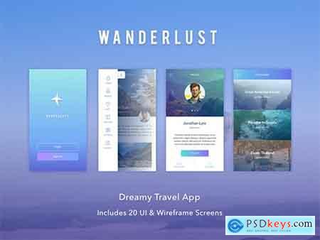 Wanderlust - Travel UI Kit