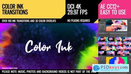 Videohive Color Ink Transitions Free