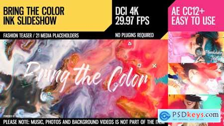 Videohive Bring the Color (4K Ink Slideshow) Free