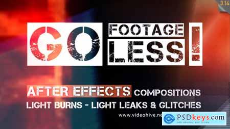 Videohive Go Footageless! - Light Burns & Glitch AE comps 8390543 After Effects Projects Free