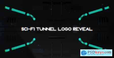 Videohive Sci-Fi Tunnel Logo Reveal Free