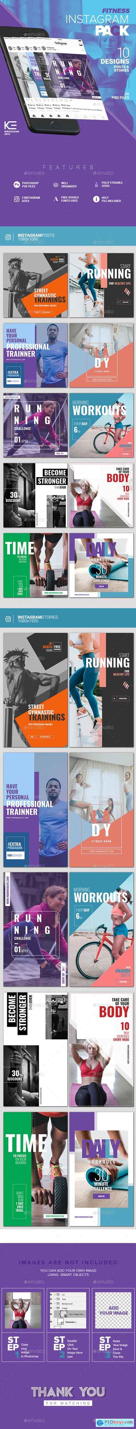 GraphicRiver 10 Instagram Fitness Posts & Stories