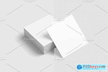 Creativemarket Square Business Card Mockup
