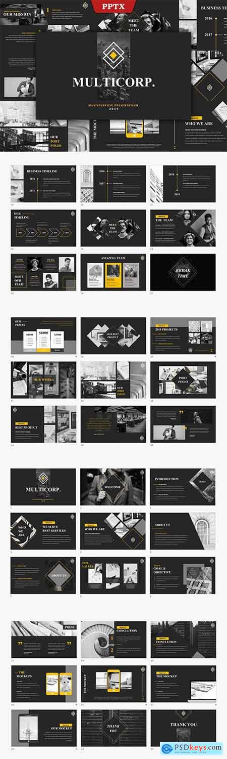 Multicorp - Multipurpose Powerpoint and Keynote Template