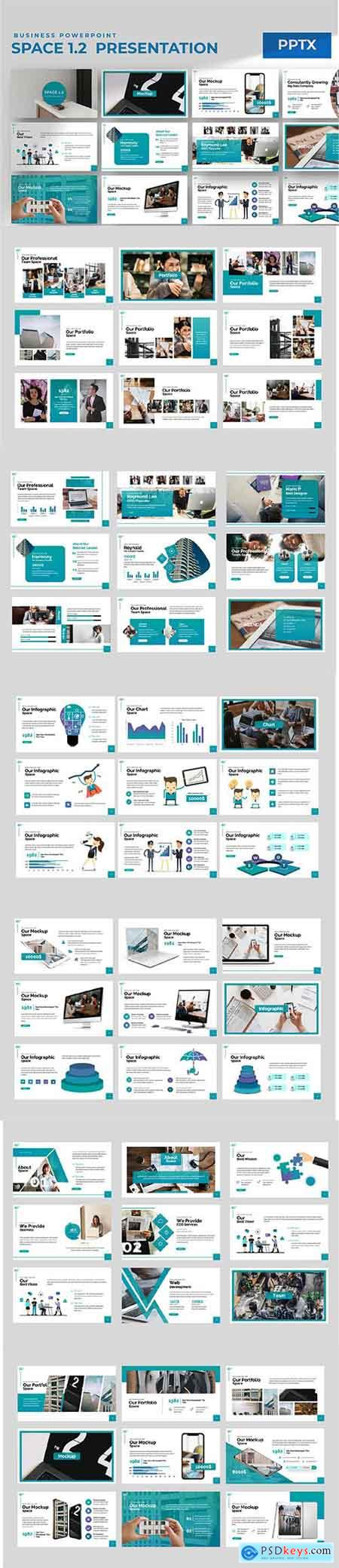 Space 1.0 Powerpoint Keynote and Google Slides Templates