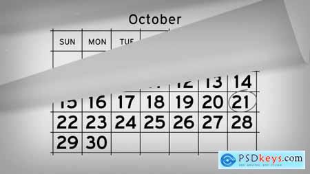 Videohive Calendar Timeline Promo Free