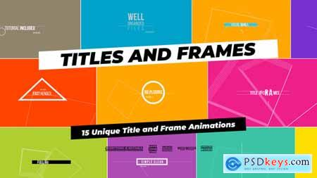 Videohive Titles And Frames Free