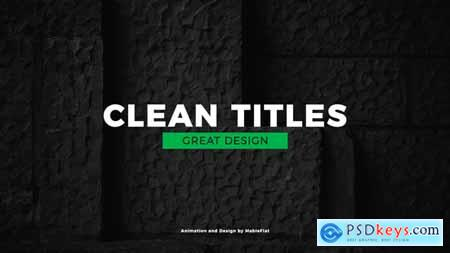 Videohive Simple Titles Free