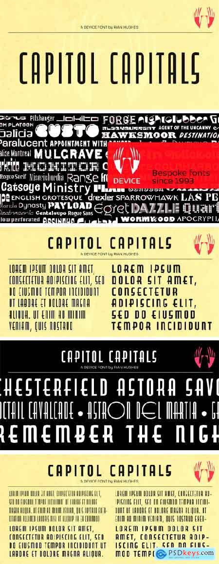 Capitol Capitals Font Family
