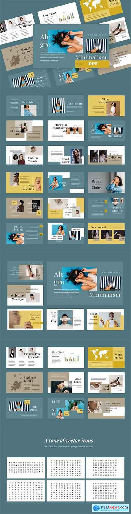 Alegro - Fashion Powerpoint, Keynote and Google Slides Templates