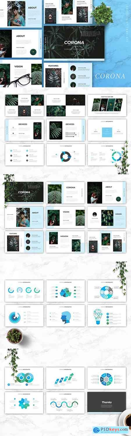 CORONA - Creative Powerpoint, Keynote and Google Slides Templates