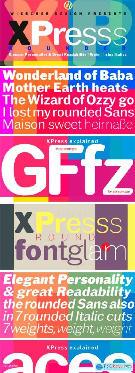 XPress Rounded Font Family