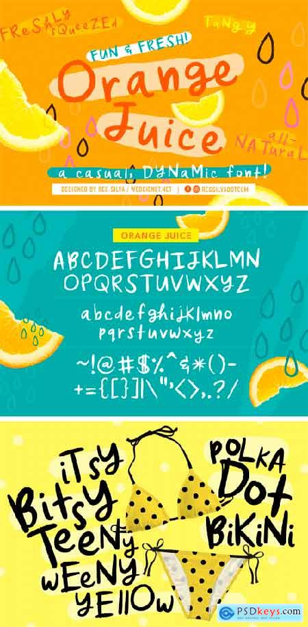 CM - Orange Juice Font 3388714