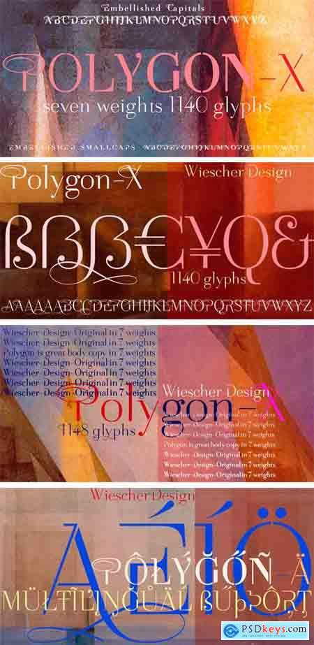 Polygon X Font Family