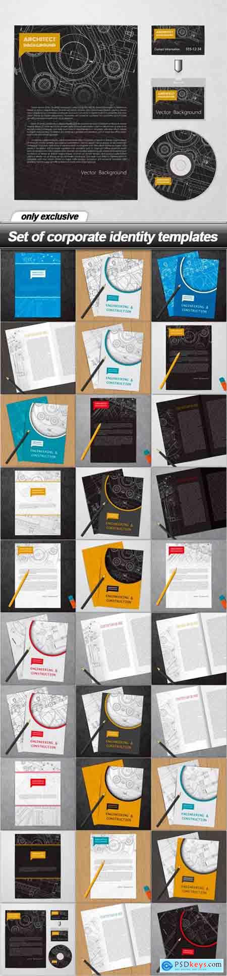 Set of corporate identity templates - 30 EPS