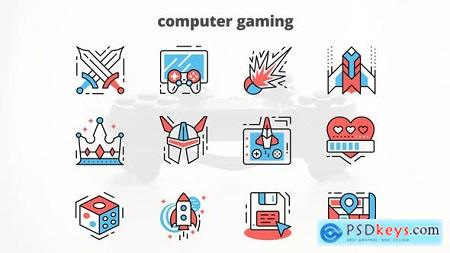 Videohive Computer Gaming – Thin Line Icons