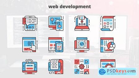 Videohive Web Development – Thin Line Icons