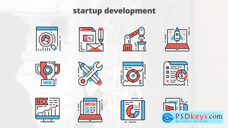 Videohive Startup Development – Thin Line Icons