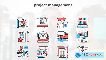 Videohive Project Managment – Thin Line Icons