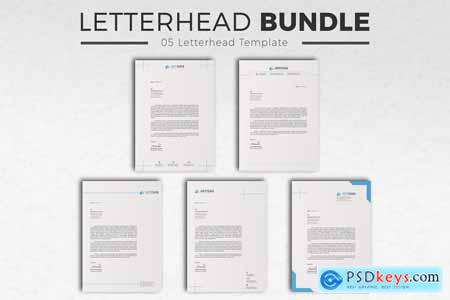 Thehungryjpeg Letterhead Bundle with MS Word