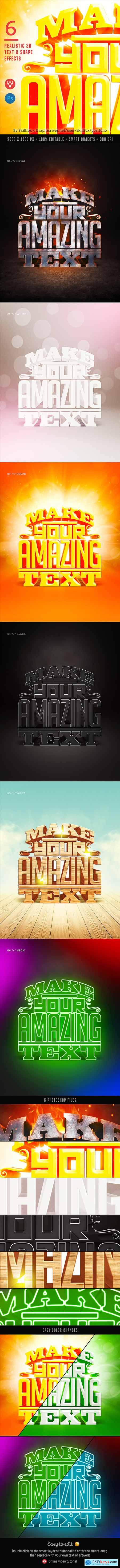 Graphicriver 6 Realistic 3D Text Effects