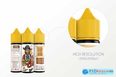 Creativemarket eLiquid Bottle Mockup v. 2B