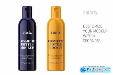 Creativemarket Glossy cosmetic bottle mockup
