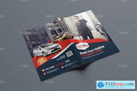 Creativemarket Rent A Car Bifold Brochure