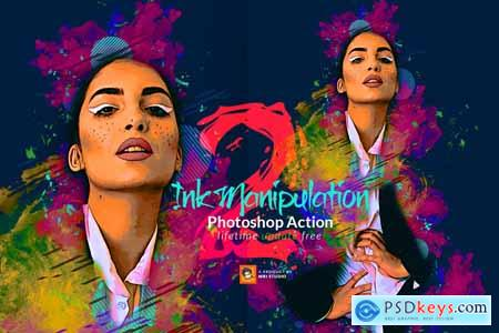 Creativemarket Ink Manipulation Photoshop Action 2