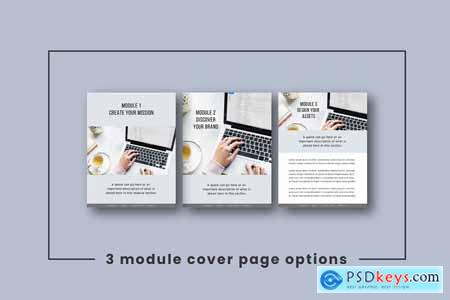 Creativemarket eCourse Workbook Template