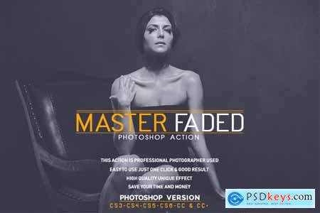 Creativemarket Master Faded Photoshop Action