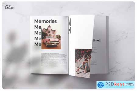 Creativemarket PIXEL Lookbook Memories Template