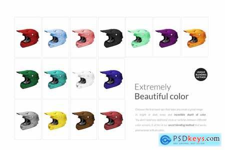 Creativemarket Offroad Sport Helmet Mock-ups Set