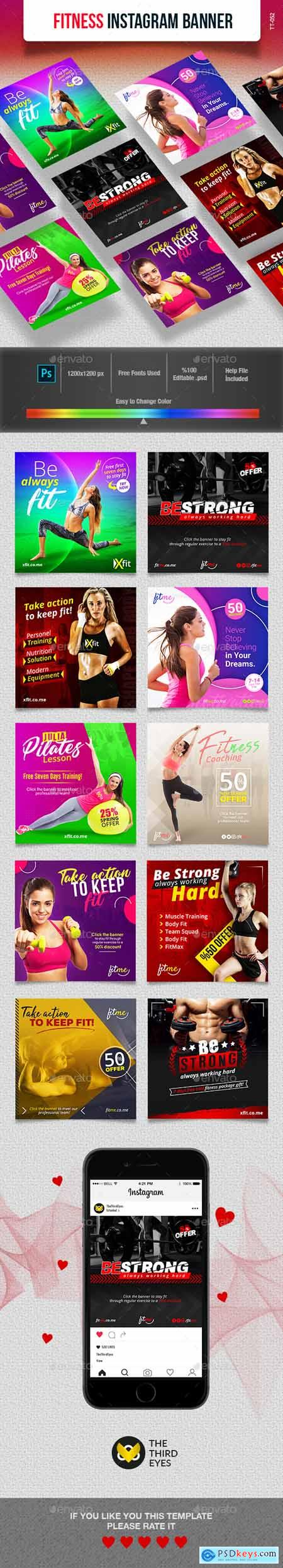 Graphicriver Fitness Instagram Banner