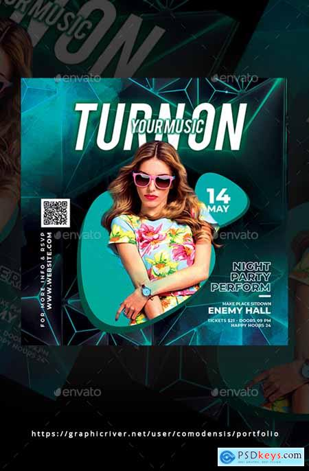 Graphicriver Dj Night Party Flyer
