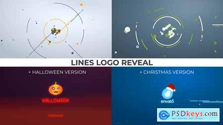 Videohive Lines Logo Reveal +Christmas Halloween ver Free