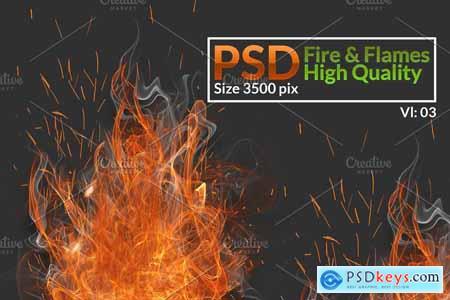 Creativemarket Fire & Smoke PNG Stock Bundle