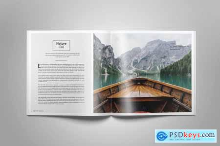Creativemarket Square Magazine Template Indesign