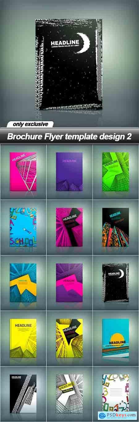Brochure Flyer template design 2 - 15 EPS