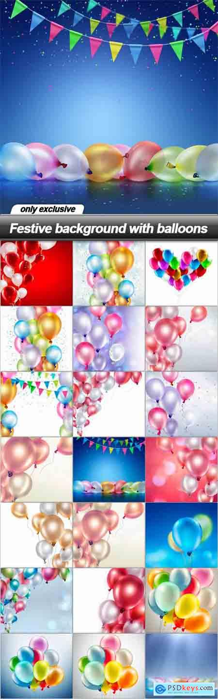 Festive background with balloons - 21 UHQ JPEG
