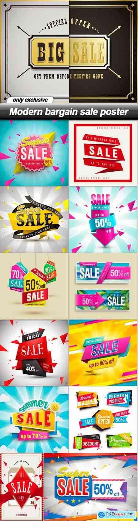 Modern bargain sale poster - 13 EPS