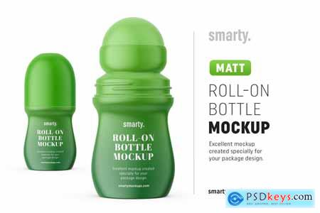 Creativemarket Matt roll-on bottle mockup