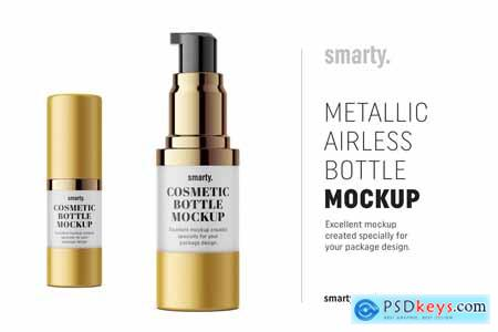 Creativemarket Metallic airless mockup 15 ml